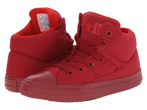 Converse Kids - Chuck Taylor All Star Monochrome Hi (Little Kid/Big Kid) (Chili Paste/Casino/Chili Paste) Boys Shoes