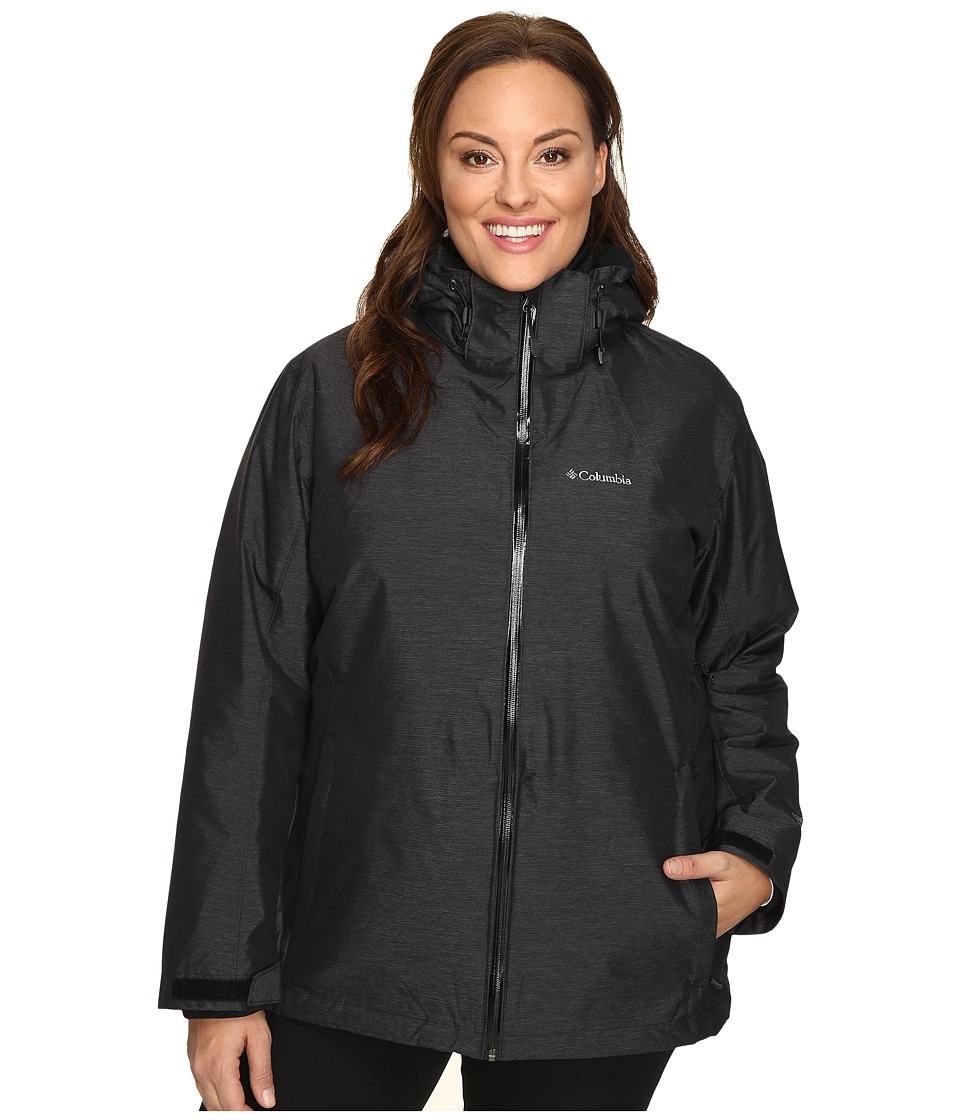 Columbia Plus Size Whirlibirdtm Interchange Jacket (Black Cross-Dye) Women