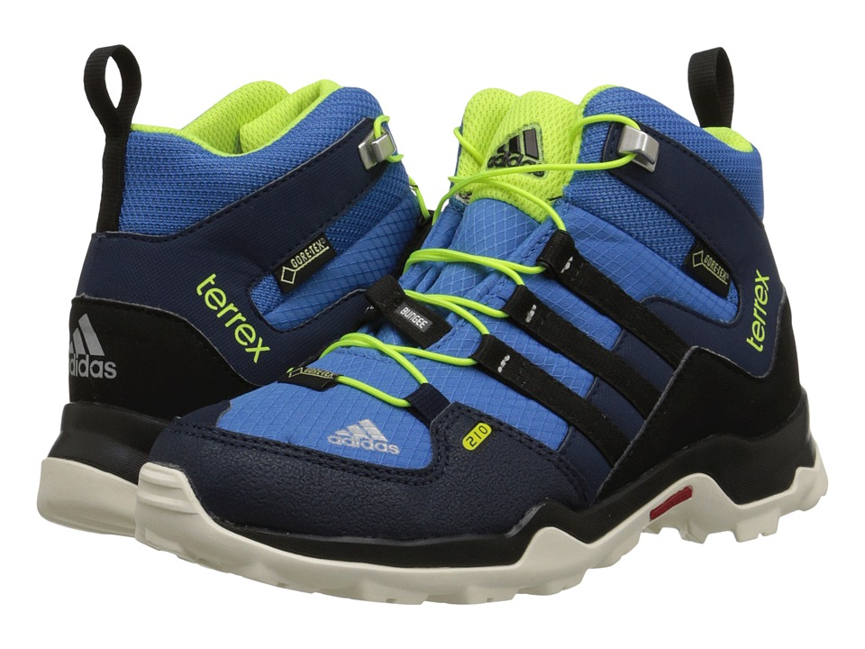 adidas Outdoor Kids - Terrex Mid GTX (Little Kid/Big Kid) (Super Blue/Black/Solar Yellow) Boys Shoes