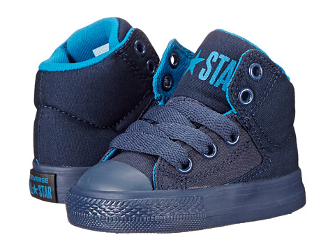 Converse Kids - Chuck Taylor All Star Monochrome Hi (Infant/Toddler) (Navy/Cyan Space/Nighttime Navy) Boys Shoes