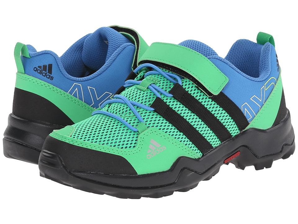 Image of adidas Outdoor Kids - AX2 CF (Little Kid/Big Kid) (Flash Green/Black/Super Blue) Kids Shoes