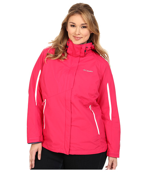 Columbia - Plus Size Bugaboo Interchange Jacket (Ruby Red/White/Nocturnal) Women's Coat