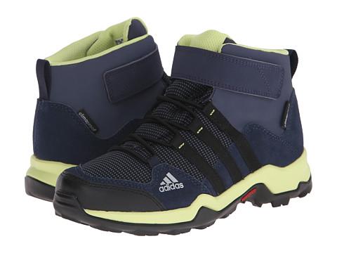 adidas Outdoor Kids - Brushwood Mid CF CP (Little Kid/Big Kid) (Midnight Grey/Black/Collegiate Navy) Boys Shoes