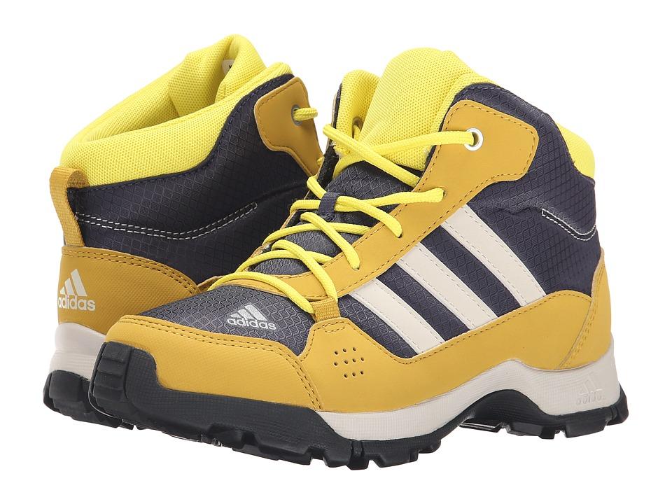 adidas Outdoor Kids - Hyperhiker (Little Kid/Big Kid) (Midnight Grey/Black/Raw Ochre) Kids Shoes