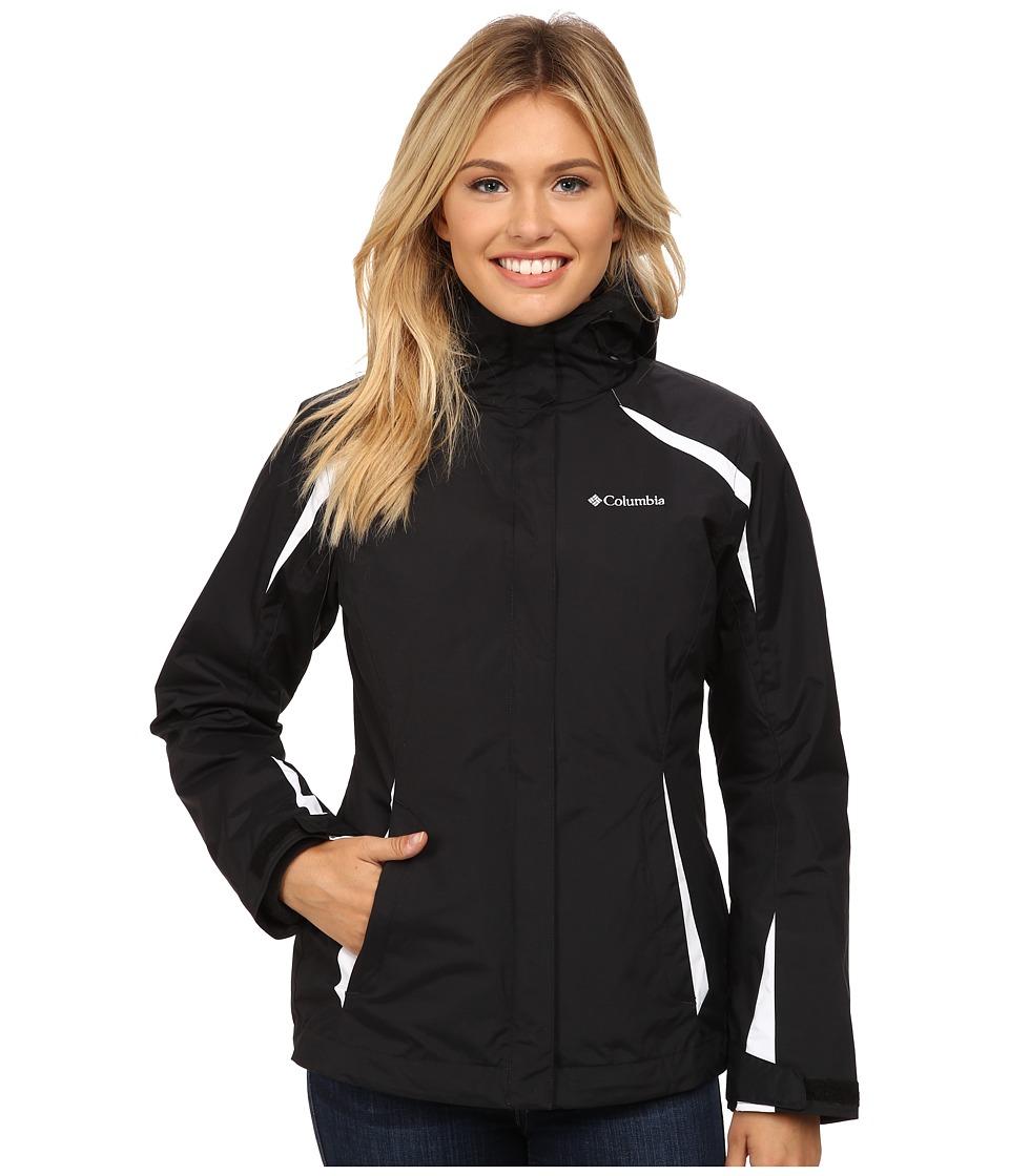 Columbia - Blazing Star Interchange Jacket (Black/White/Black) Women's Coat