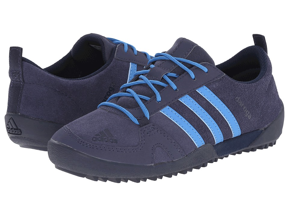 adidas Outdoor Kids - Daroga Leather (Little Kid/Big Kid) (Midnight Grey/Super Blue/Black) Boys Shoes