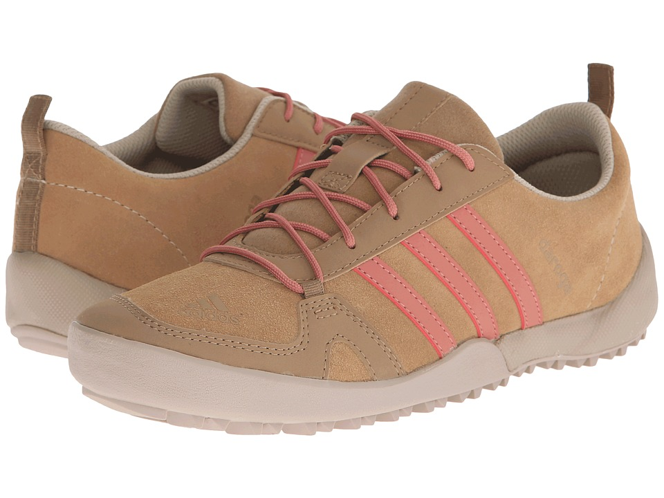 adidas Outdoor Kids - Daroga Leather (Little Kid/Big Kid) (Cardboard/Raw Pink/Clay Brown) Girls Shoes