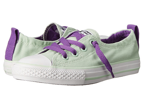 Converse Kids - Chuck Taylor All Star Shoreline Slip (Little Kid/Big Kid) (Mint Julep/Allium Purple/White) Girls Shoes
