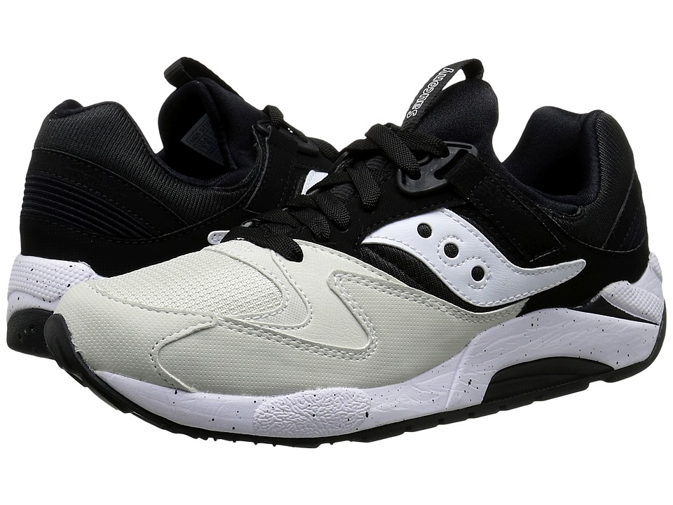Saucony Originals - Grid 9000 - Hallowed Pack (White/Black) Men's Classic Shoes