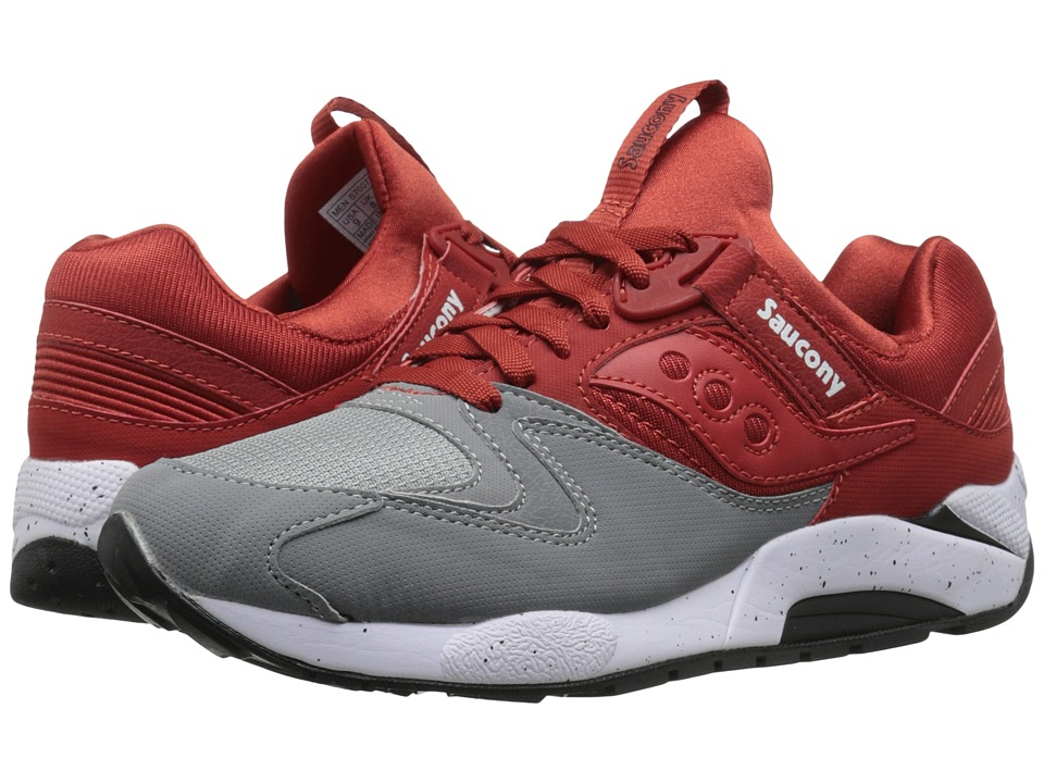 Saucony Originals - Grid 9000 (Grey/Red) Men