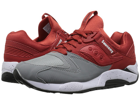 Saucony Originals - Grid 9000 (Grey/Red) Men's Classic Shoes