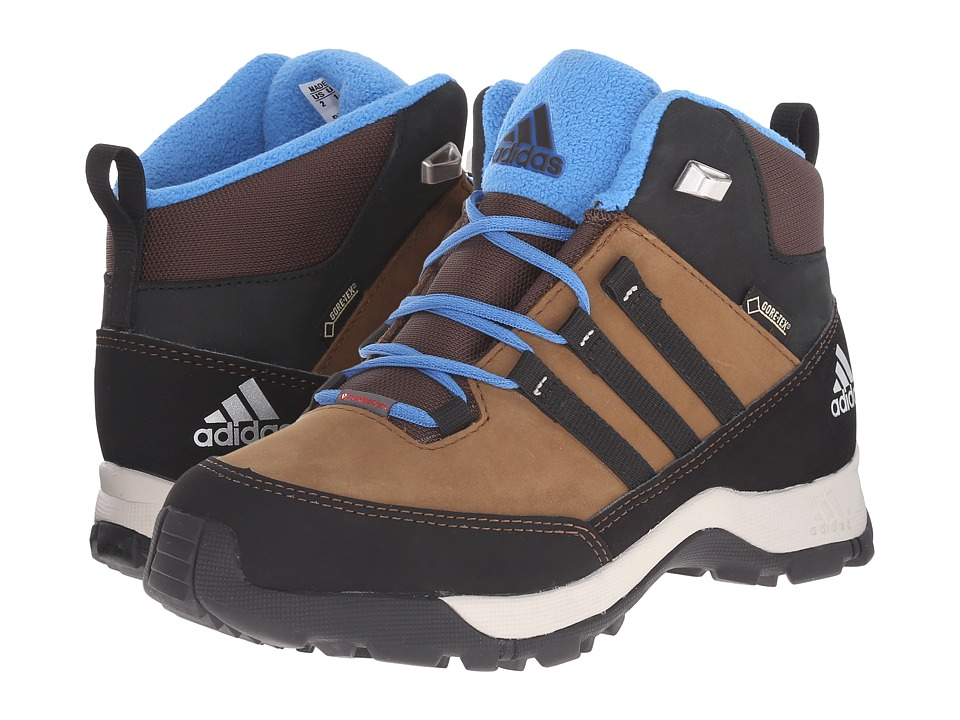 adidas Outdoor Kids - Winter Hiker Mid GTX (Little Kid/Big Kid) (Brown Oxide/Black/Super Blue) Boys Shoes