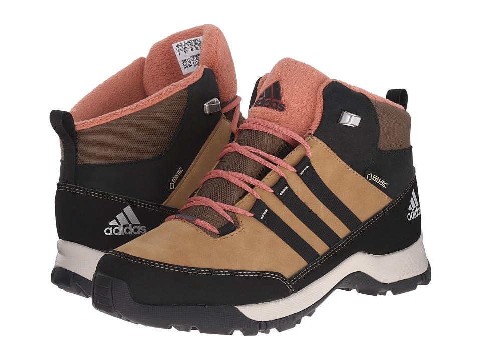 adidas Outdoor Kids - Winter Hiker Mid GTX (Little Kid/Big Kid) (Cardboard/Black/Raw Pink) Girls Shoes