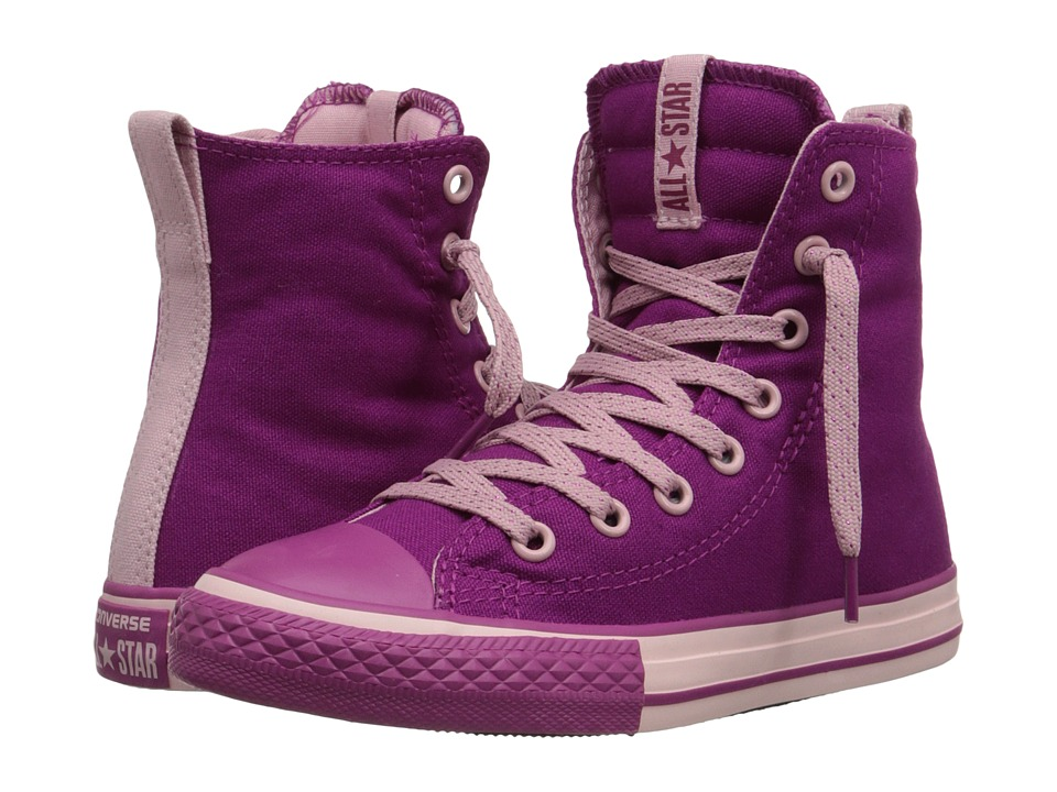 Converse Kids - Chuck Taylor All Star Slip It Hi (Little Kid/Big Kid) (Pink Sapphire/Pink Freeze/Pink Sapphire) Girls Shoes