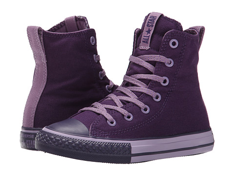 Converse Kids - Chuck Taylor All Star Slip It Hi (Little Kid/Big Kid) (Eggplant Peel/Dusty Lilac/Eggplant Peel) Girls Shoes