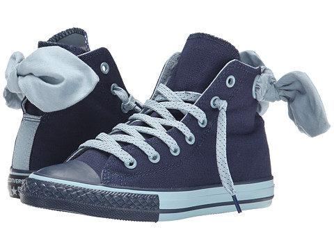 Converse Kids - Chuck Taylor All Star Monochrome Bow Back Hi (Little Kid/Big Kid) (Nighttime Navy/Skye Haze/Black) Girls Shoes