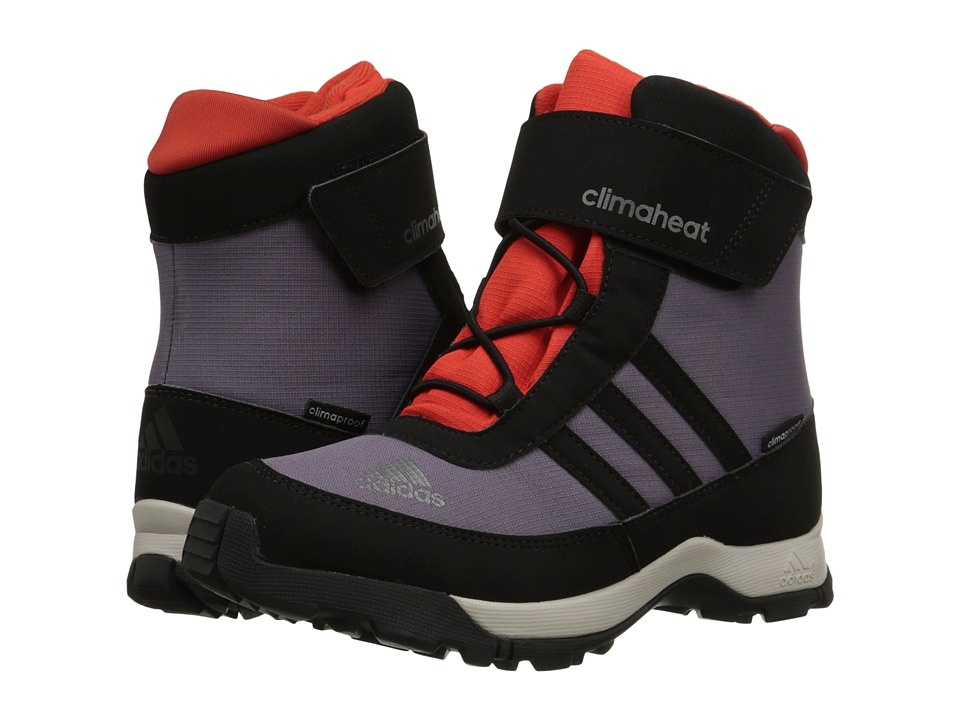 Image of adidas Outdoor Kids - Adisnow CF CP (Little Kid/Big Kid) (Ash Purple/Black/Bold Orange) Kids Shoes