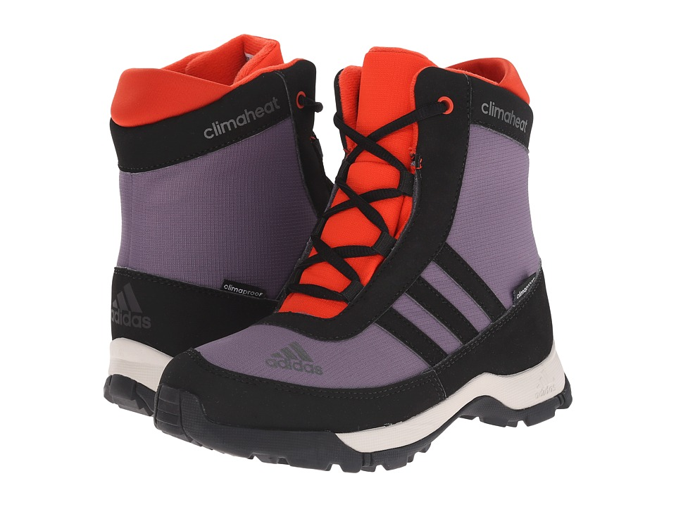 Image of adidas Outdoor Kids - Adisnow CP (Little Kid/Big Kid) (Ash Purple/Black/Bold Orange) Kids Shoes
