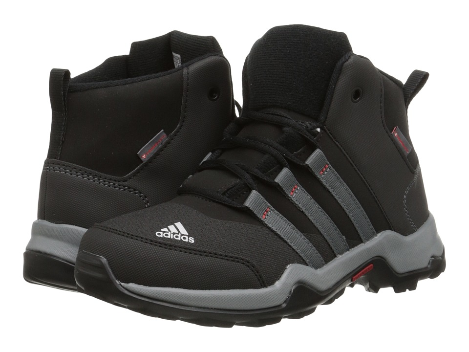 Image of adidas Outdoor Kids - AX2 Beta Mid (Little Kid/Big Kid) (Black/Vista Grey/Chalk White) Boys Shoes