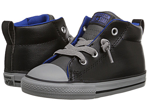 d9a77cec5927 ... BLACK THUNDER BLUE UPC 886956205764 product image for Converse Kids - Chuck  Taylor All Star Leather Mix Street Mid