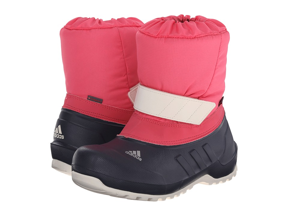 adidas Outdoor Kids - Winterfun Girl (Little Kid/Big Kid) (Super Pink/Midnight Grey/Bright Yellow) Girls Shoes