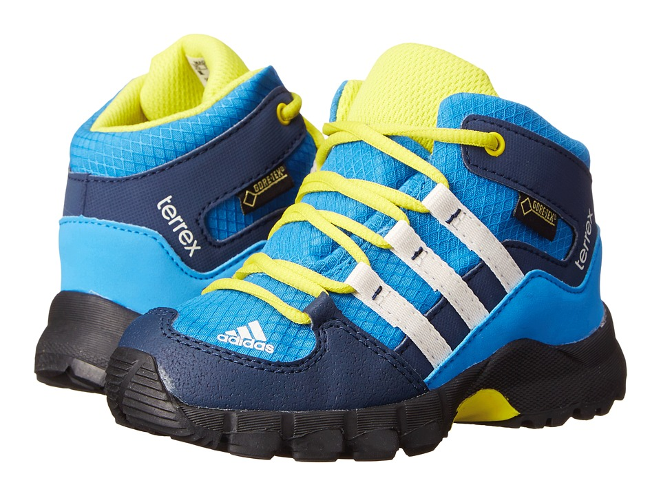 adidas Outdoor Kids - Terrex Mid GTX (Infant/Toddler) (Super Blue/Chalk White/Bright Yellow) Boys Shoes