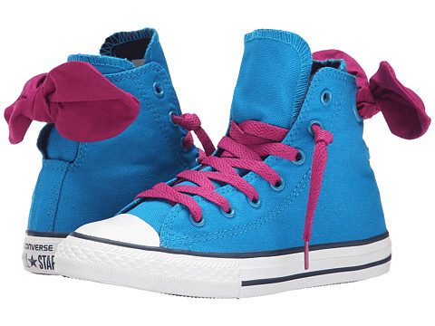 Converse Kids - Chuck Taylor All Star Bow Back Hi (Little Kid/Big Kid) (Cyan Space/Pink Sapphire/Nighttime Navy) Girls Shoes