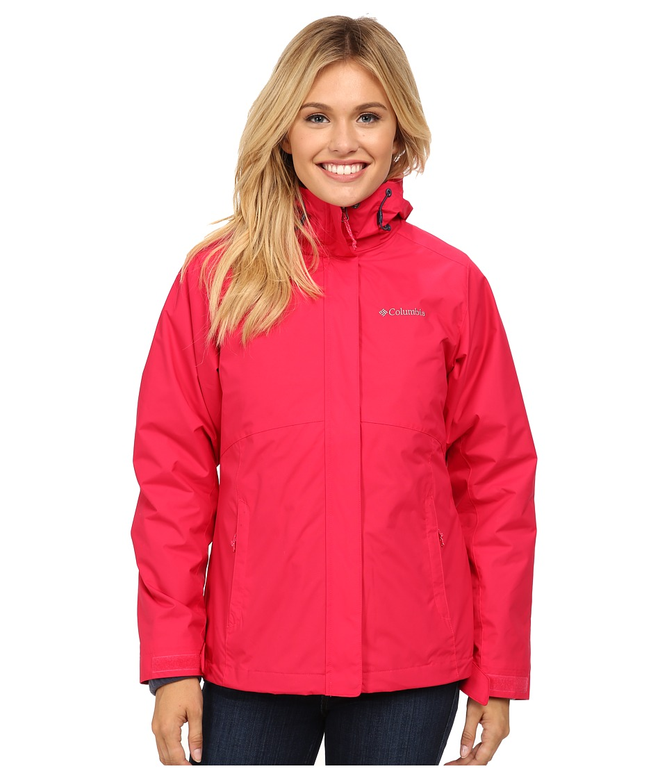 Columbia - Nordic Cold Front Interchange Jacket (Ruby Red/Nocturnal) Women's Coat