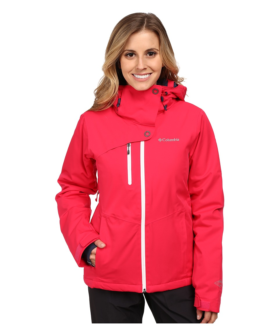 Columbia - Mile Summit Jacket (Ruby Red/White) Women's Coat