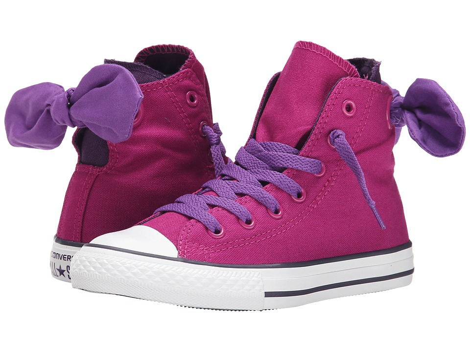 Converse Kids - Chuck Taylor All Star Bow Back Hi (Little Kid/Big Kid) (Pink Sapphire/Allium Purple/Eggplant Peel) Girls Shoes