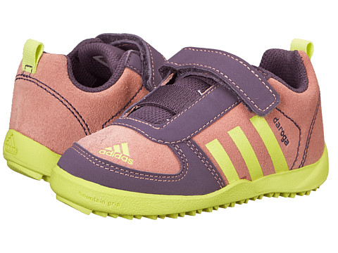 adidas Outdoor Kids - Daroga Leather CF (Infant/Toddler) (Raw Pink/Semi Frozen Yellow/Ash Purple) Girls Shoes