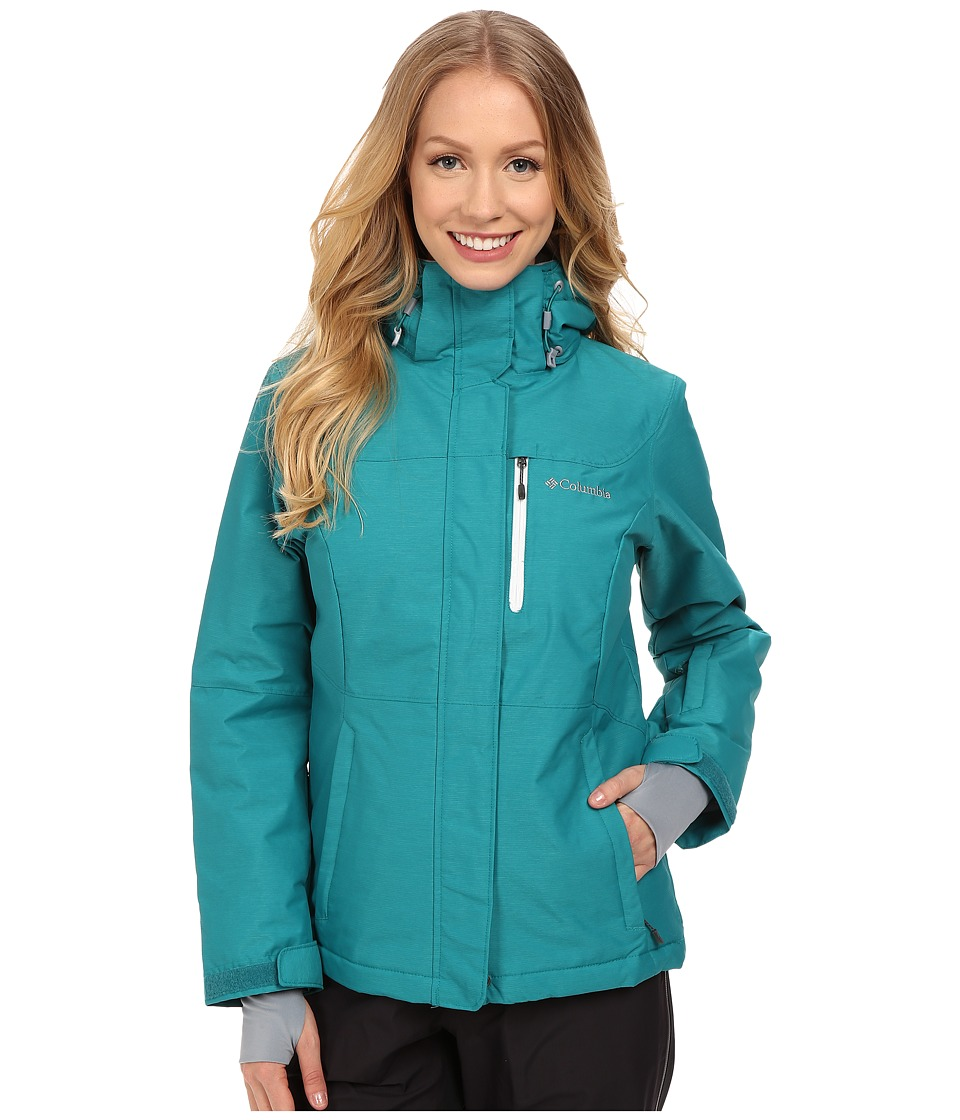 Columbia - Alpine Action Omni-Heat Jacket (Emerald Crossdye/White) Women's Coat