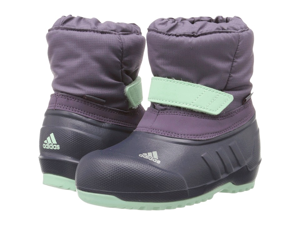 adidas Outdoor Kids - Winterfun (Toddler) (Ash Purple/Midnight Grey/Frozen Green) Girls Shoes