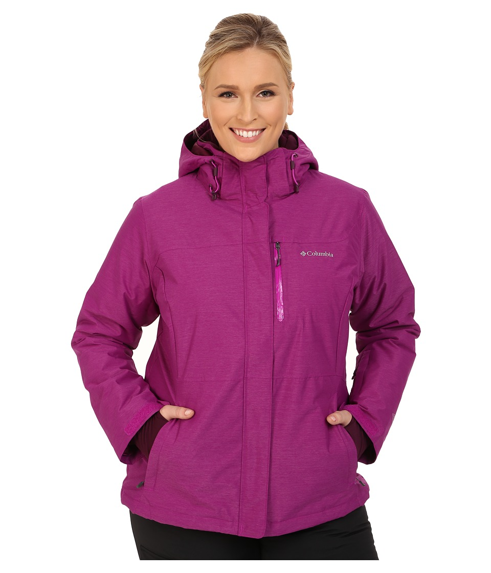Columbia - Plus Size Alpine Action Omni-Heat Jacket (Bright Plum Crossdye/Bright Plum) Women's Coat