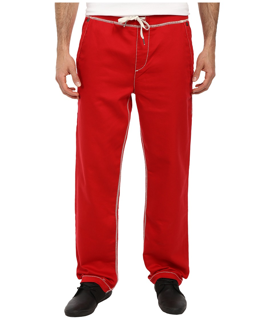 True Religion - Contrast Wide Leg Big T Sweatpants (True Red) Men's Casual Pants
