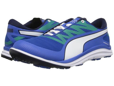 PUMA Golf - Biodrive (Strong Blue/Peacoat/Fluro Yellow) Men's Golf Shoes