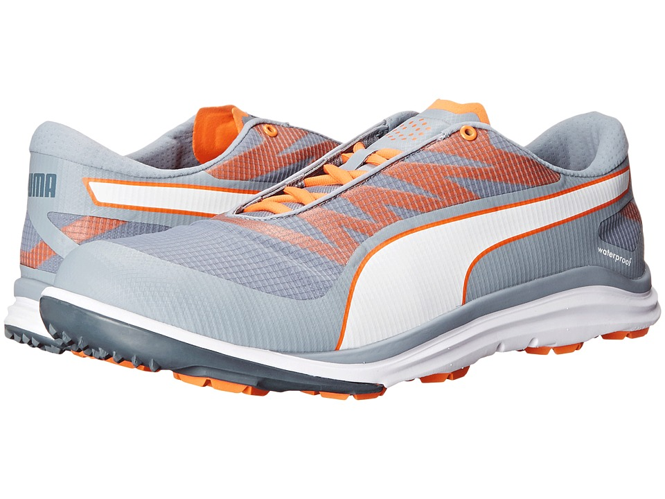 PUMA Golf - Biodrive (Tradewinds/White/Vibrant Orange) Men's Golf Shoes