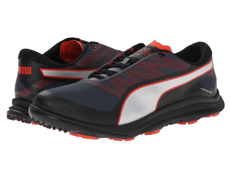 PUMA Golf - Biodrive (Black/Turbulence/Puma Red) Men's Golf Shoes