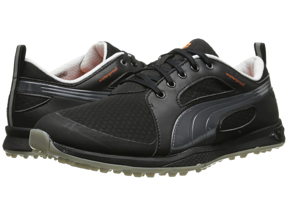 PUMA Golf - Biofly Mesh (Black/Puma Silver) Men's Golf Shoes