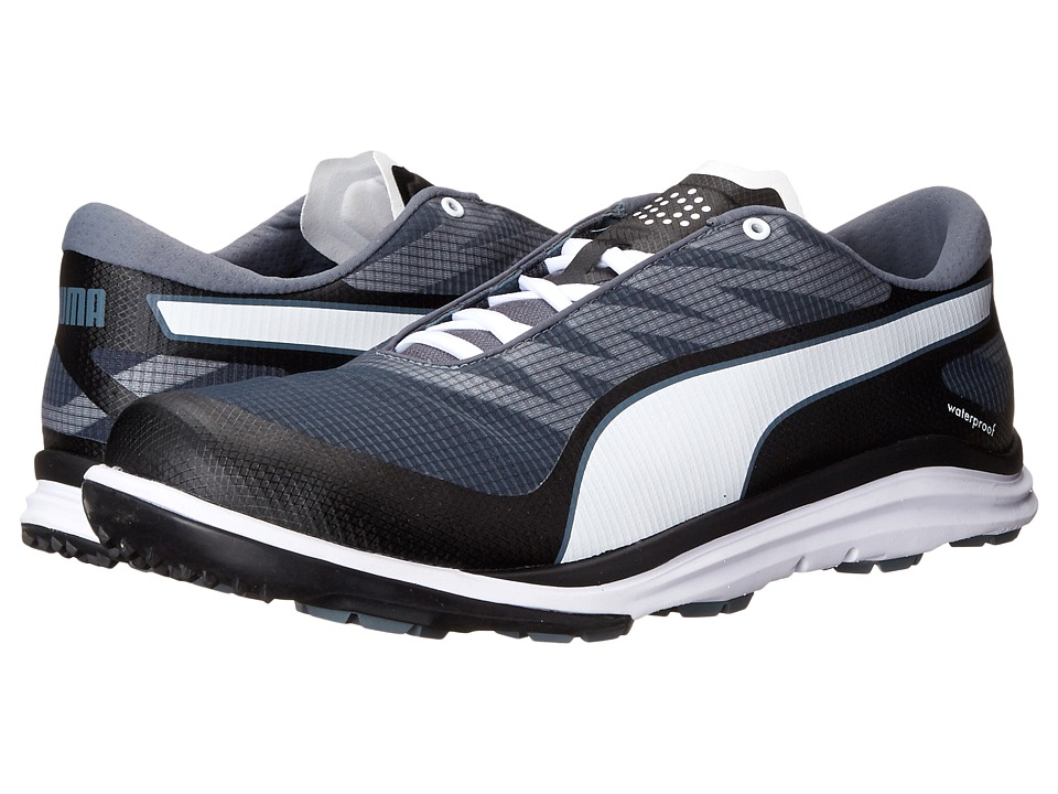 PUMA Golf - Biodrive (Black/White/Turbulence) Men's Golf Shoes
