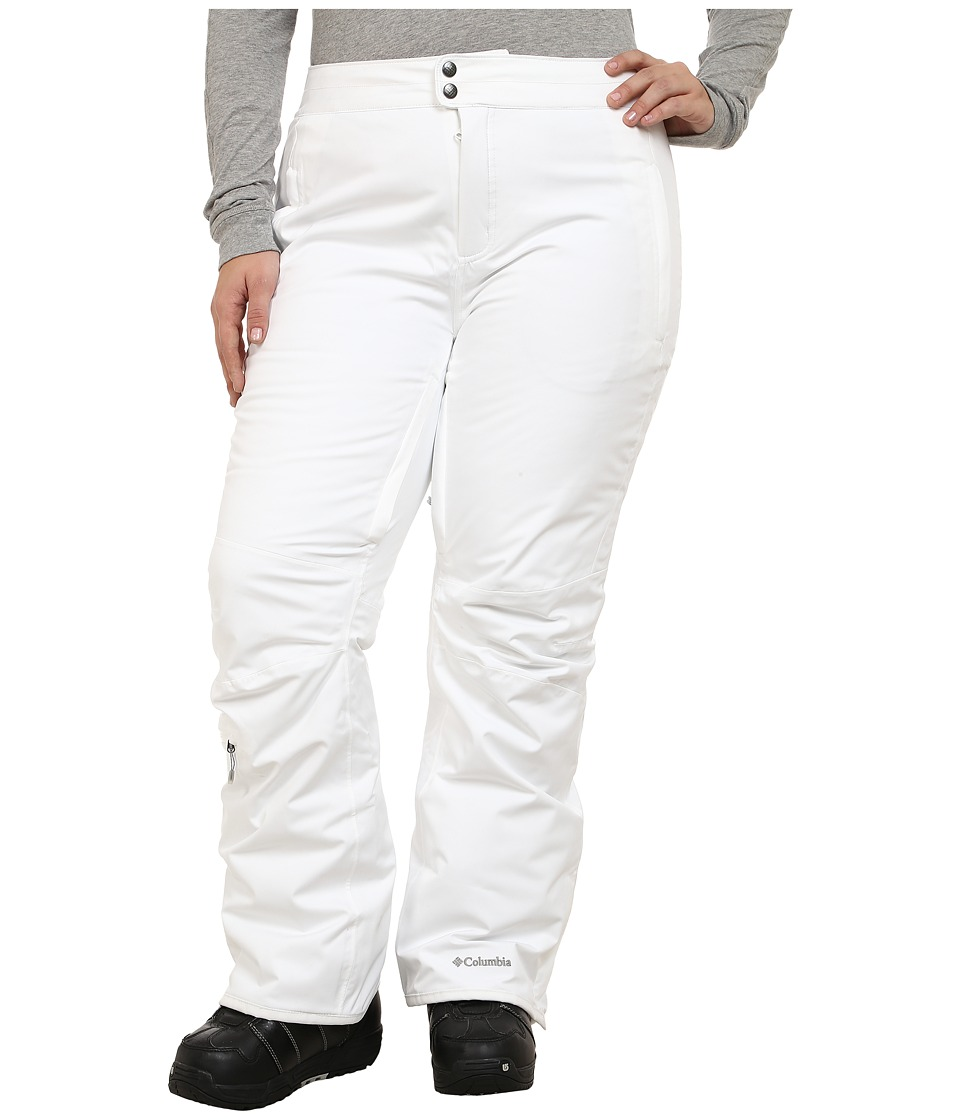 Columbia - Plus Size Veloca Vixen Pant (White) Women
