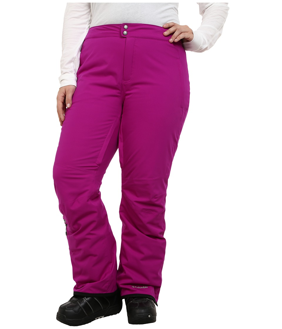 Columbia - Plus Size Veloca Vixen Pant (Bright Plum/Purple Dahlia) Women's Outerwear