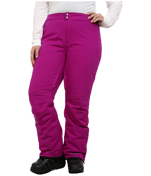 Columbia - Plus Size Veloca Vixen Pant (Bright Plum/Purple Dahlia) Women