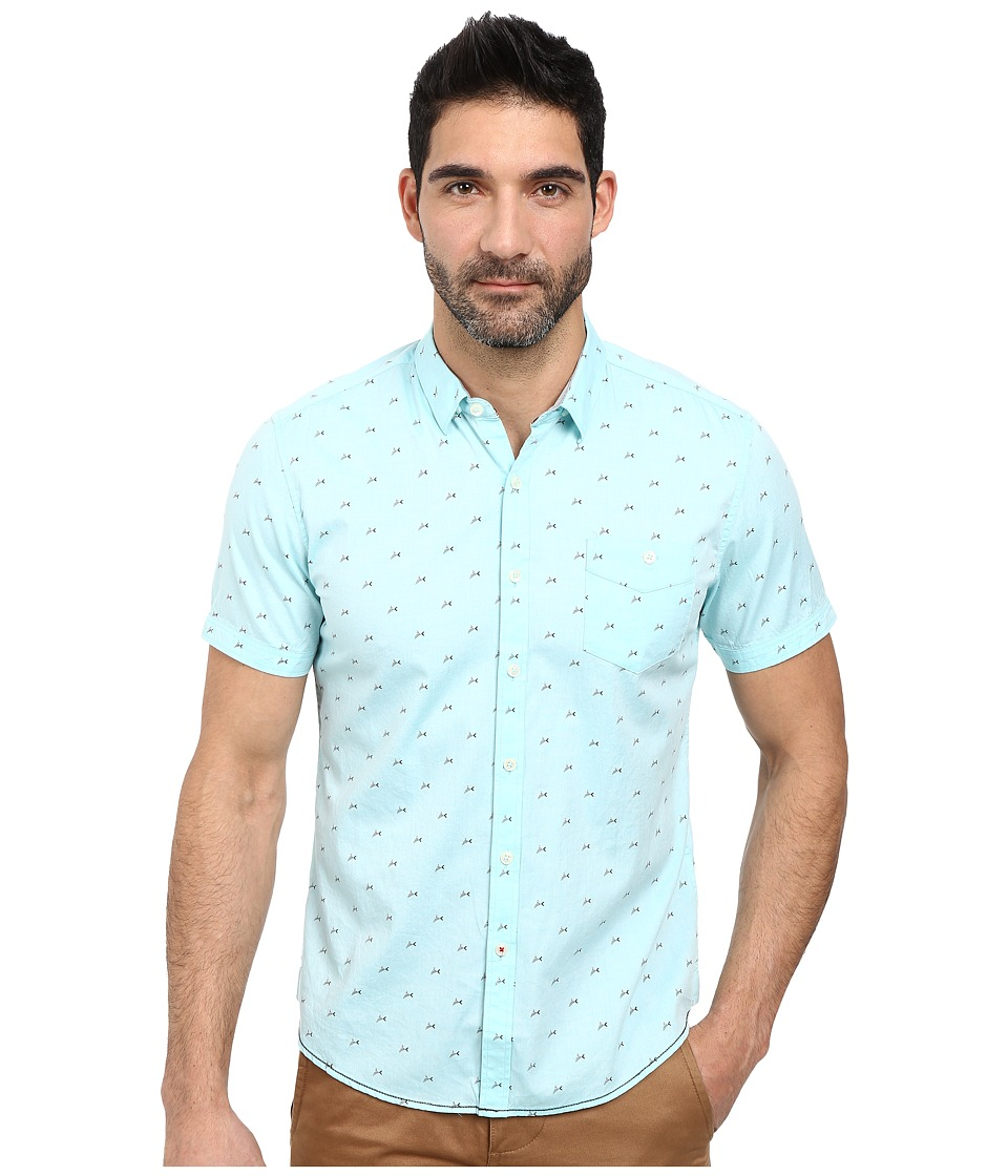 7 Diamonds - Swept Away Short Sleeve Shirt (Mint) Men's Short Sleeve Button Up
