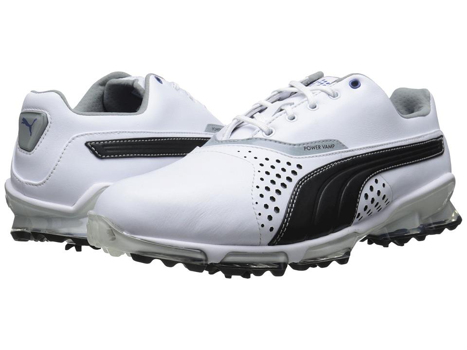 PUMA Golf - Titantour (White/Black) Men's Golf Shoes