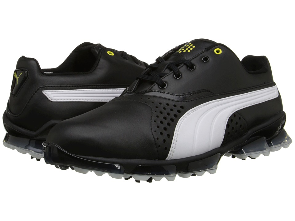 PUMA Golf - Titantour (Black/White) Men's Golf Shoes