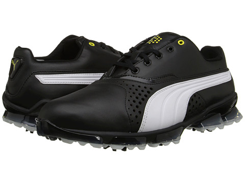 PUMA Golf - Titantour (Black/White) Men's Golf Shoes
