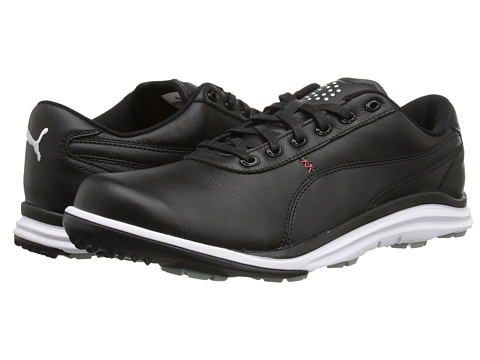 PUMA Golf - Biodrive Leather WB (Black/White/Tango Red) Men