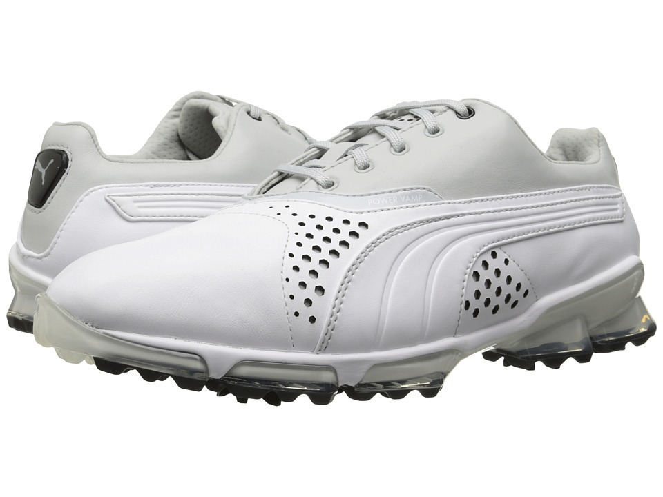 PUMA Golf - Titantour (White/Gray Violet) Men's Golf Shoes