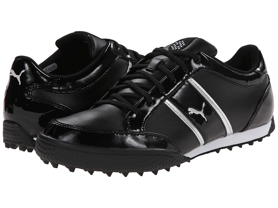 PUMA Golf - Monolite Cat (Black/White/Puma Silver) Women's Golf Shoes